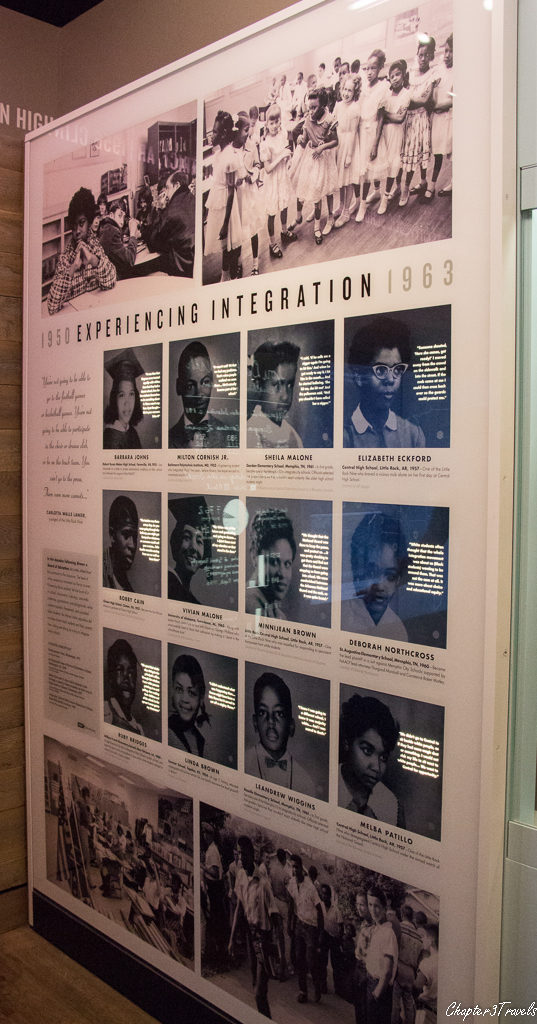 Exhibit on individuals involved in various civil rights protests
