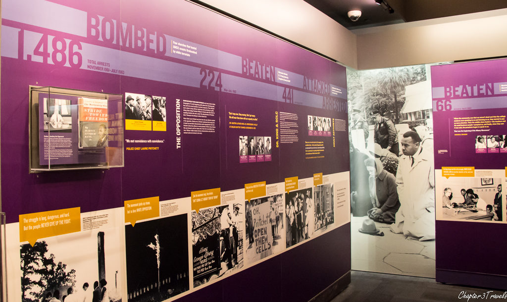 Exhibit panels at the museum.