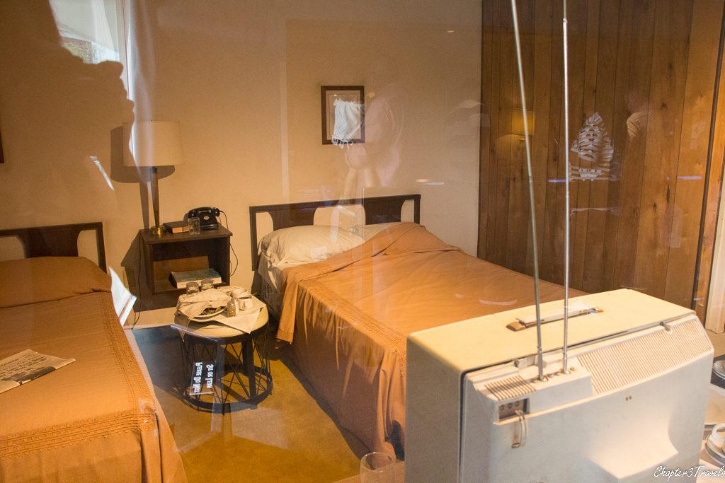 MLK's restored room at the Lorraine Motel