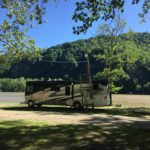 Campsite at New River Campground in Gauley Bridge, West Virginia