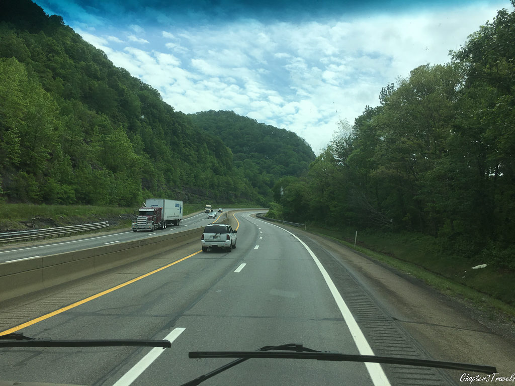 Mountain roads in West Virginia