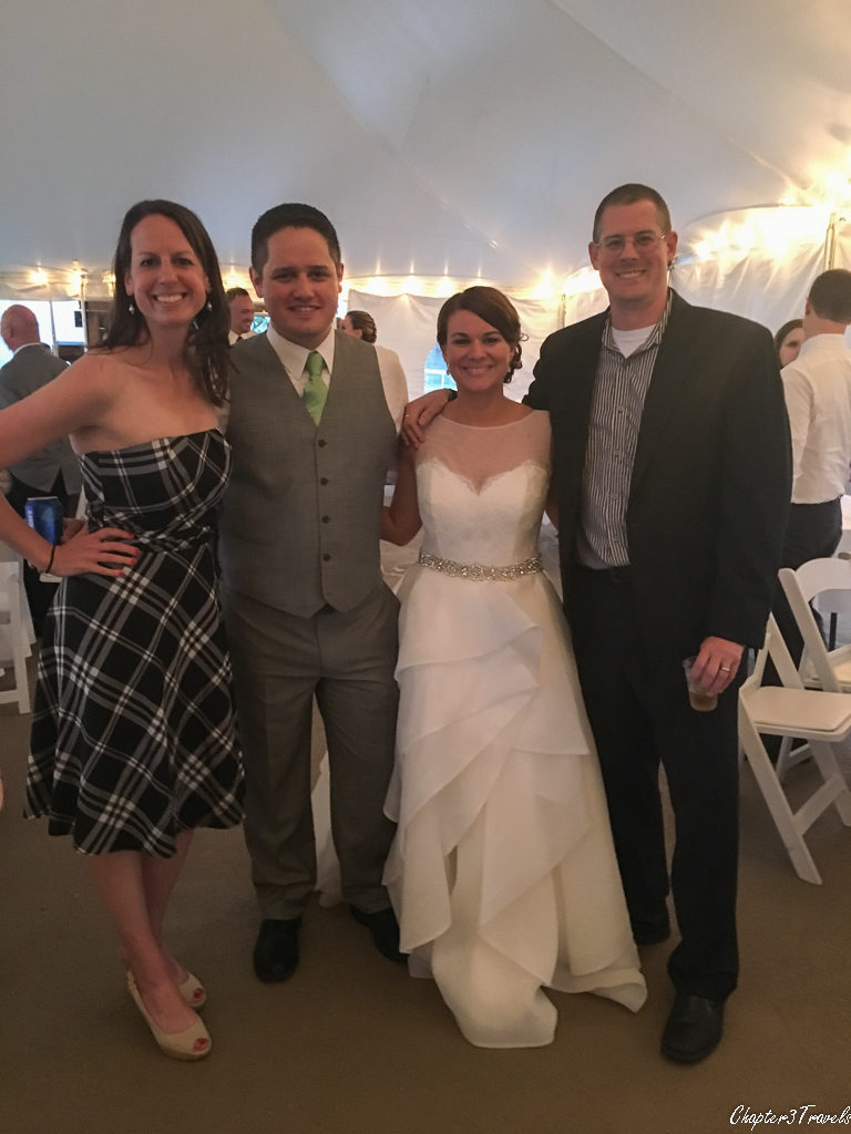 Laura, CJ, Julie, and Kevin at the wedding