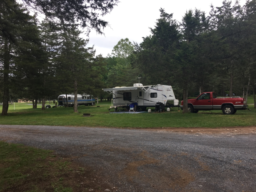 Campsites at Natural Chimneys Park, Mount Solon, Virginia