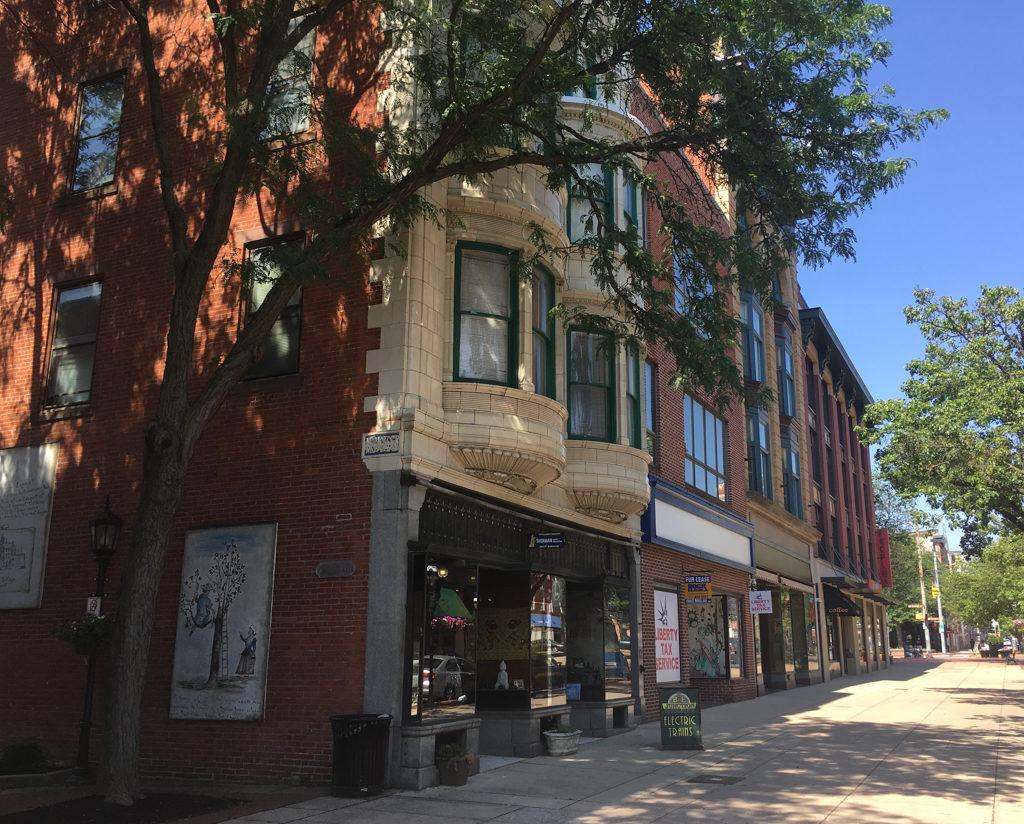 Storefronts in York, Pennsylvania