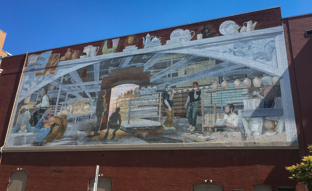 Large mural painted on building