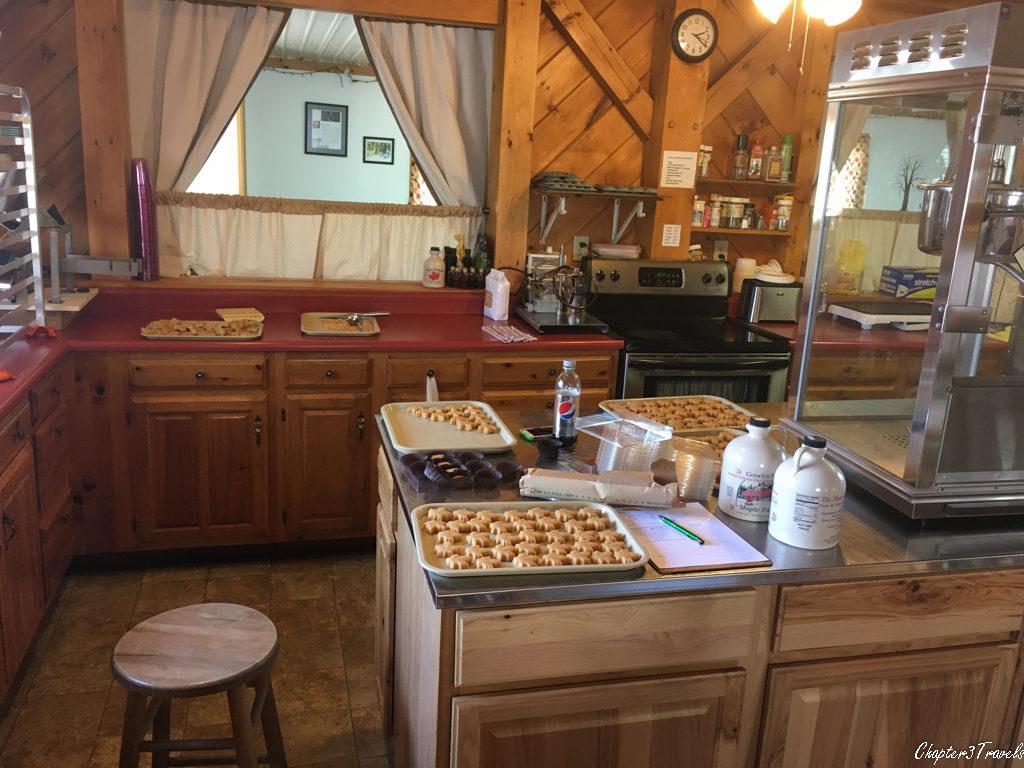 Kitchen at Goodrich's Maple Farm in Vermont.