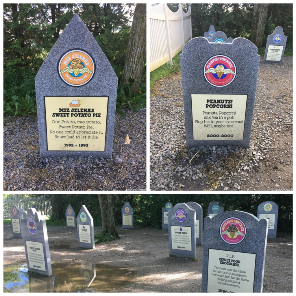 The flavor graveyard at Ben & Jerry's in Vermont