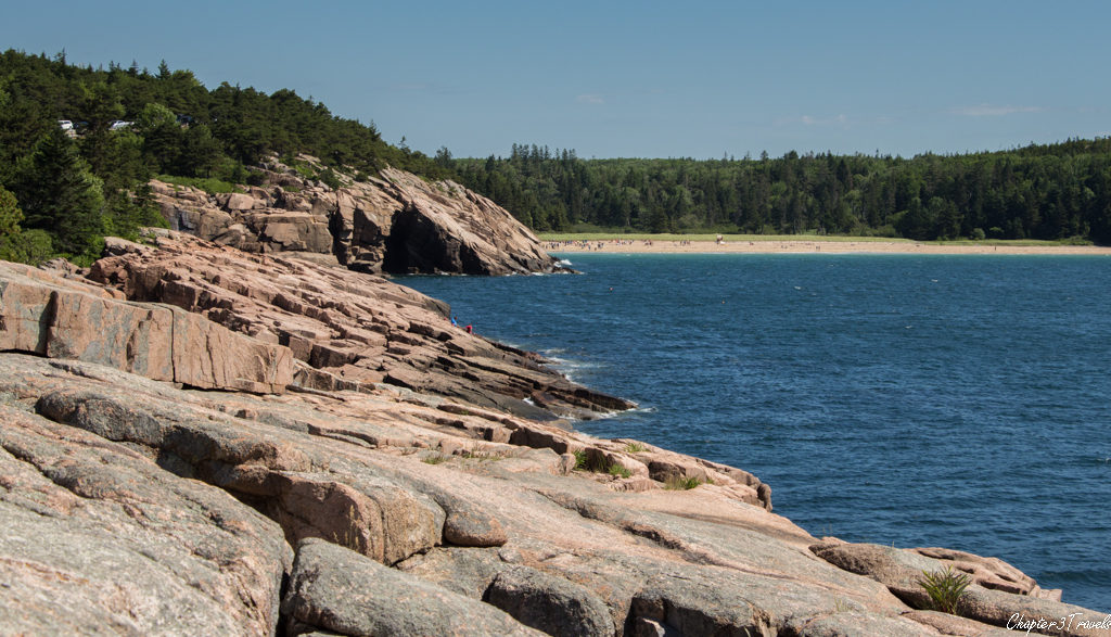 View of the rocks along the Ocean Path at Acadia National Park