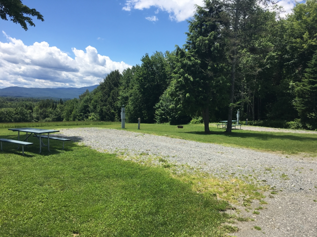 Campsite at Maplewoods Campground in Johnson, Vermont