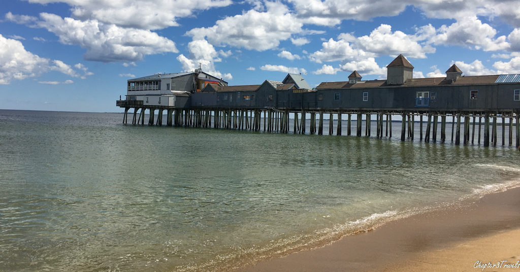 Ocean pier at Old Orchard Beach, Maine