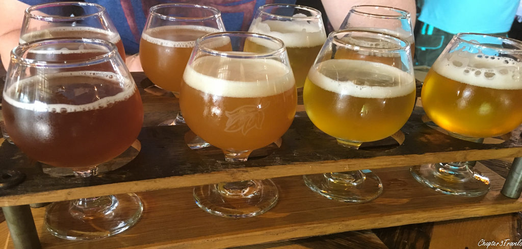 Allagash Brewing beer flight
