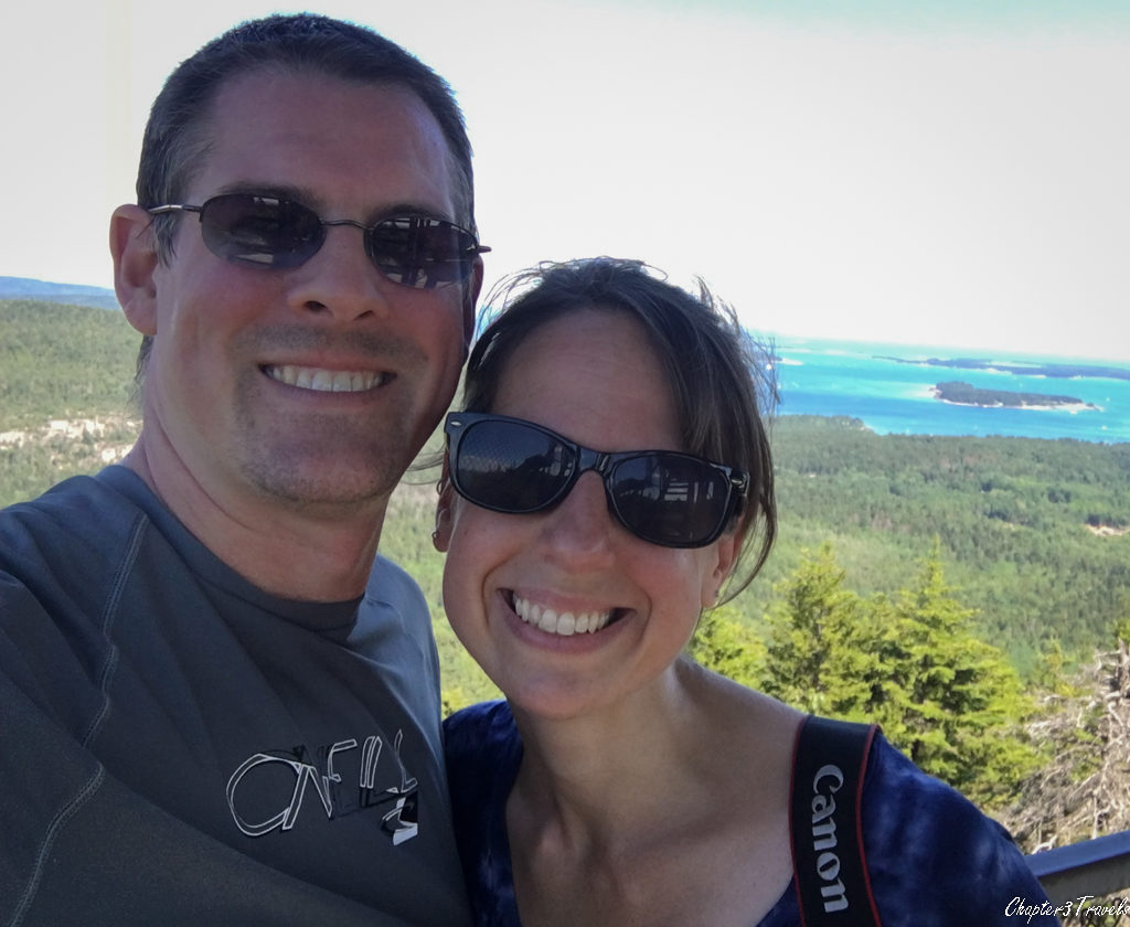 Kevin and Laura at the top of Beech Mountain