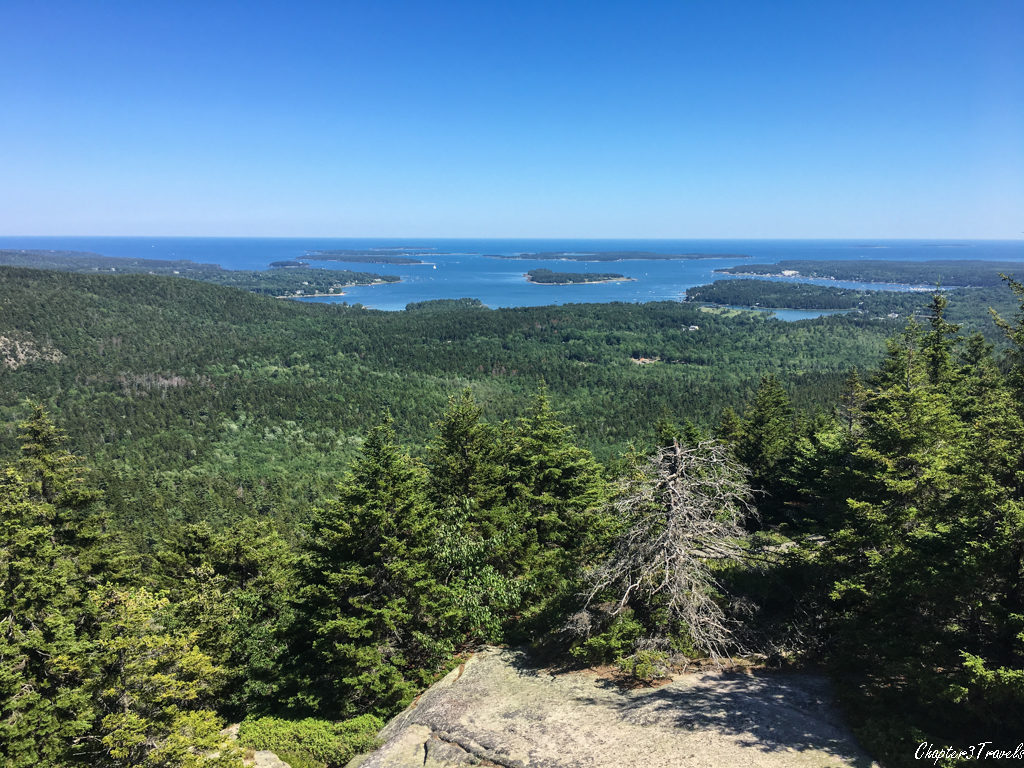 View from Beech Mountain Trail at Acadia National Park