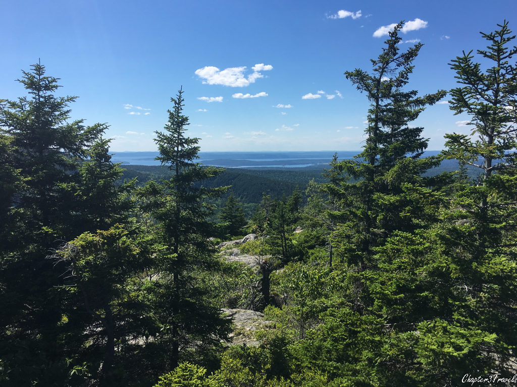 View from Beech Mountain of Acadia National Park