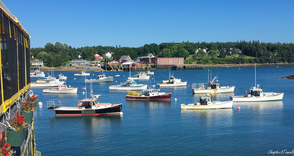 Lobster boats behind Thurston's Lobster Pound