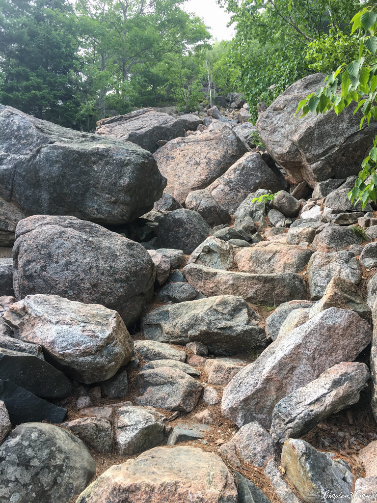 The Bubble Rock Trail at Acadia National Park