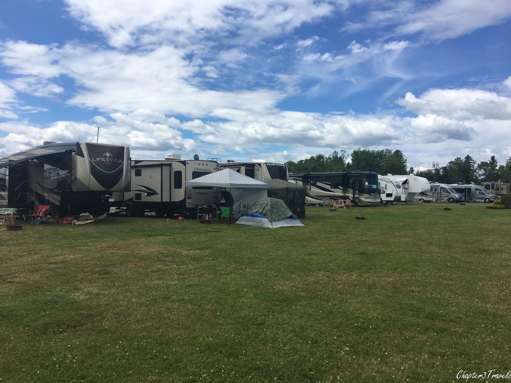 Oceanview campsites at Kiwanis Oceanfront Camping