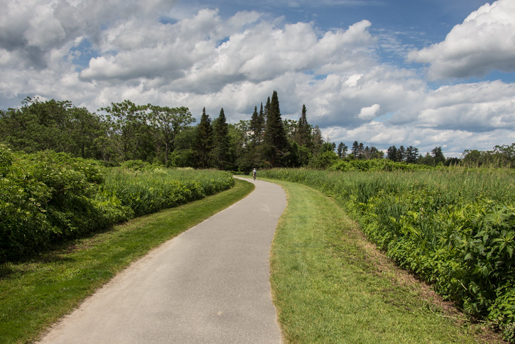 The recreation path in Stowe, Vermont
