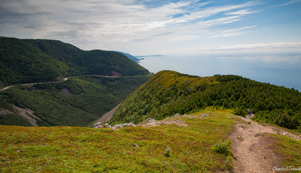 Mountain ridge on Skyline Trail in Cape Breton Highlands National Park