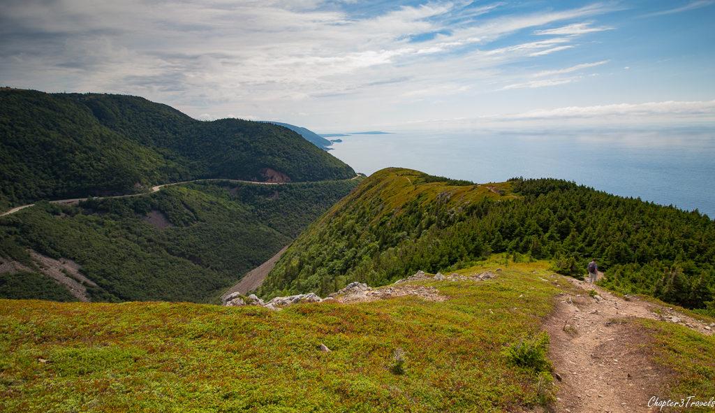 Mountain ridge on Skyline Trail in Cape Breton Highlands National Park