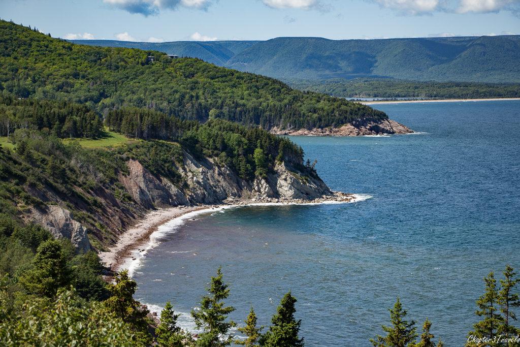 Cliffs and ocean views on Cape Breton Island