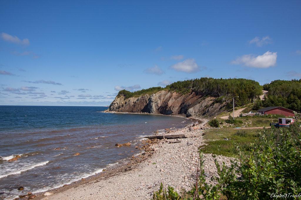 A cove and rocky beach on Cape Breton Island, Nova Scotia