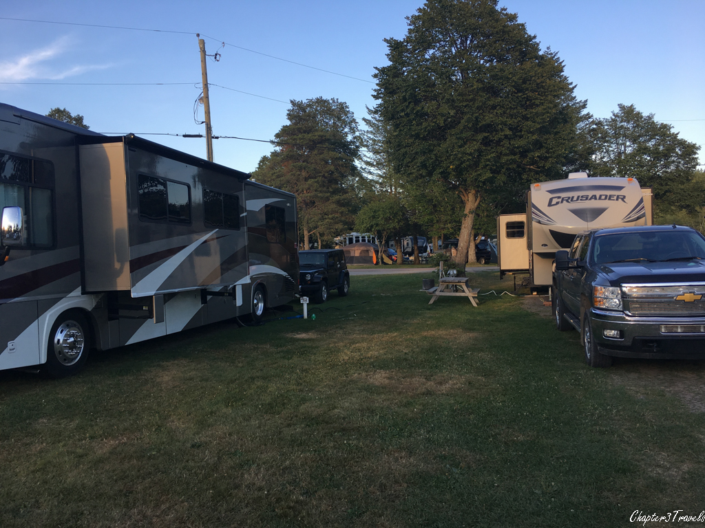Campsites at Stonehurst Trailer Park and Golf Course in Moncton, New Brunswick