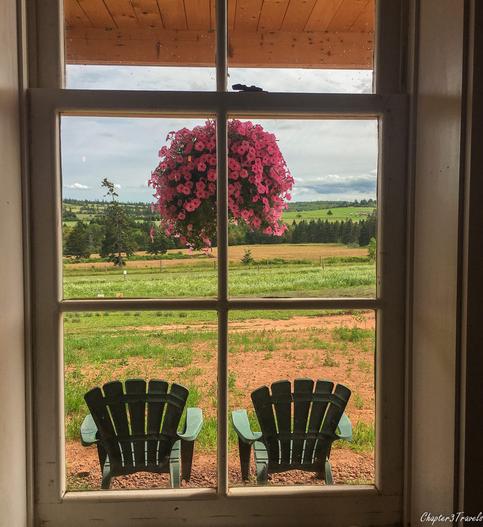 Views from the tasting room building for the Island Honey Wine Company in Prince Edward Island