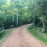 Interior roadway at New Glasgow Highlands Campground in Prince Edward Island