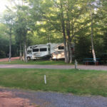 RV sites at Interior New Glasgow Highlands Campground in Prince Edward Island