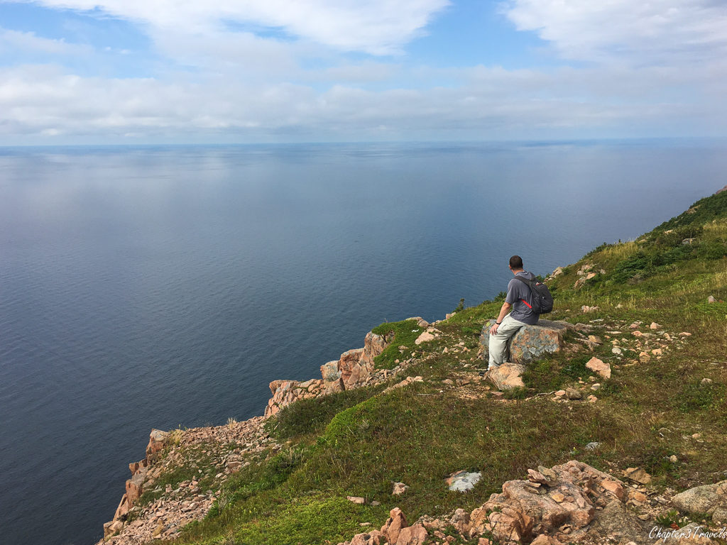 Kevin looking out on the ocean at Cape Breton Highlands National Park