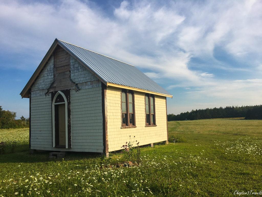 Abandoned one room church house in Prince Edward Island