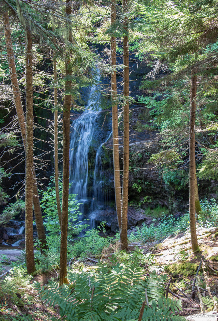 Waterfall in Fundy Trail Park, New Brunswick.