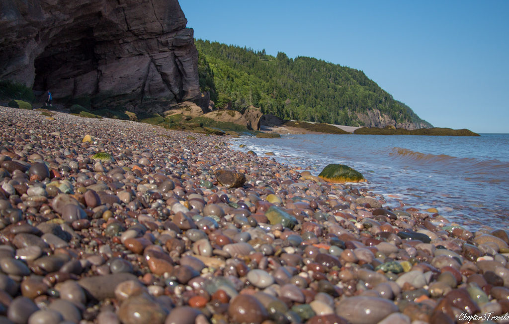 Rocky beach in Fundy Trail Park, New Brunswick.