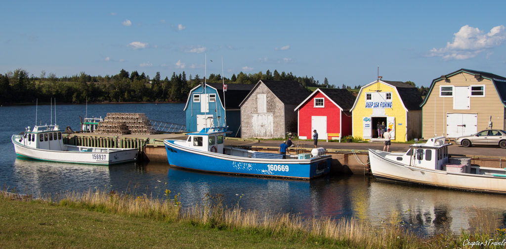 A fishing village on Prince Edward Island