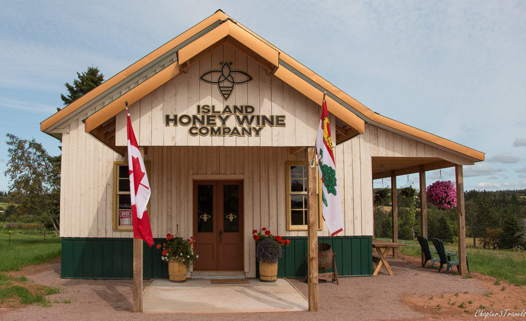 The tasting room building for the Island Honey Wine Company in Prince Edward Island