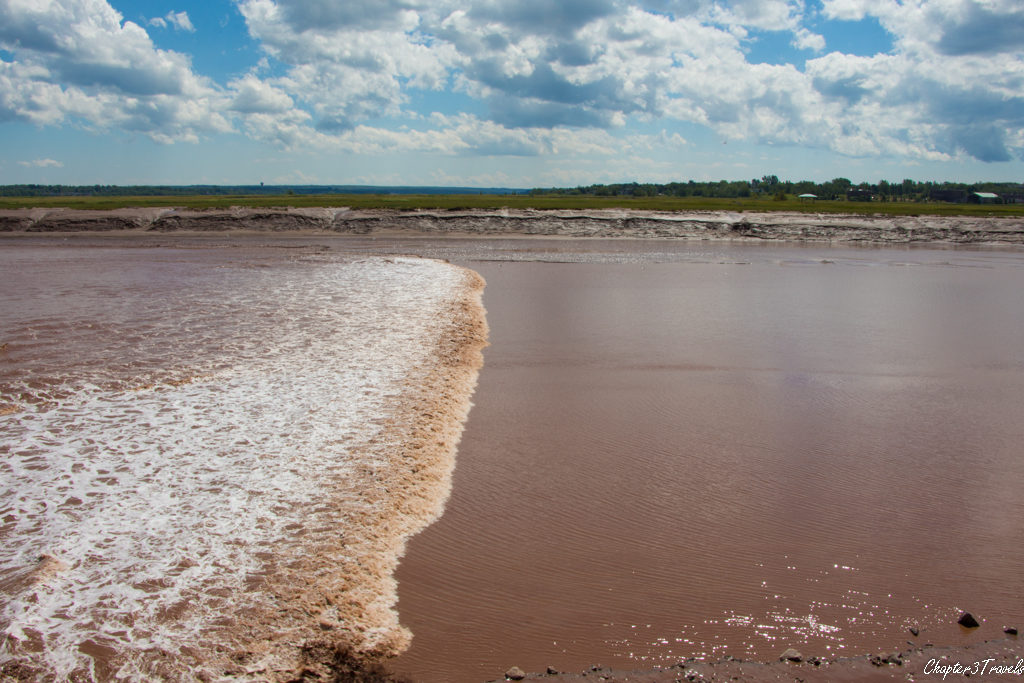 The tidal bore in Moncton, New Brunswick
