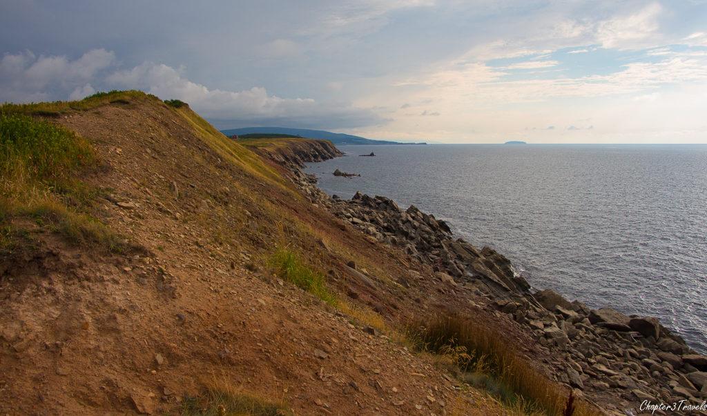 Rocky coastline along Cape Breton Island in Nova Scotia