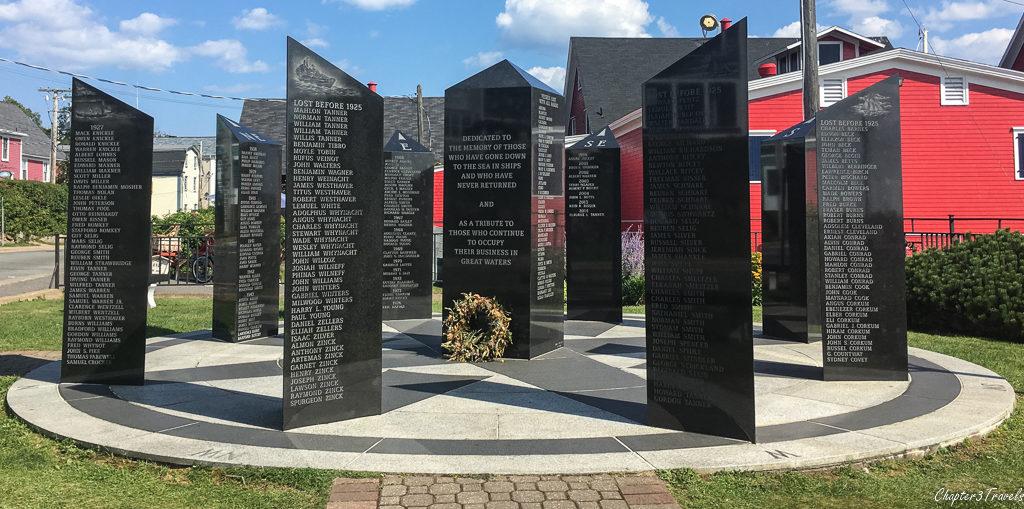 The Lunenburg Fishermen's Memorial in Lunenburg, Nova Scotia