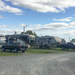 Row of campsites at Lunenburg Board of Trade Campground