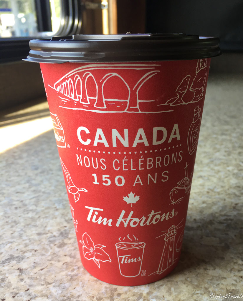 A cup of Tim Horton's coffee