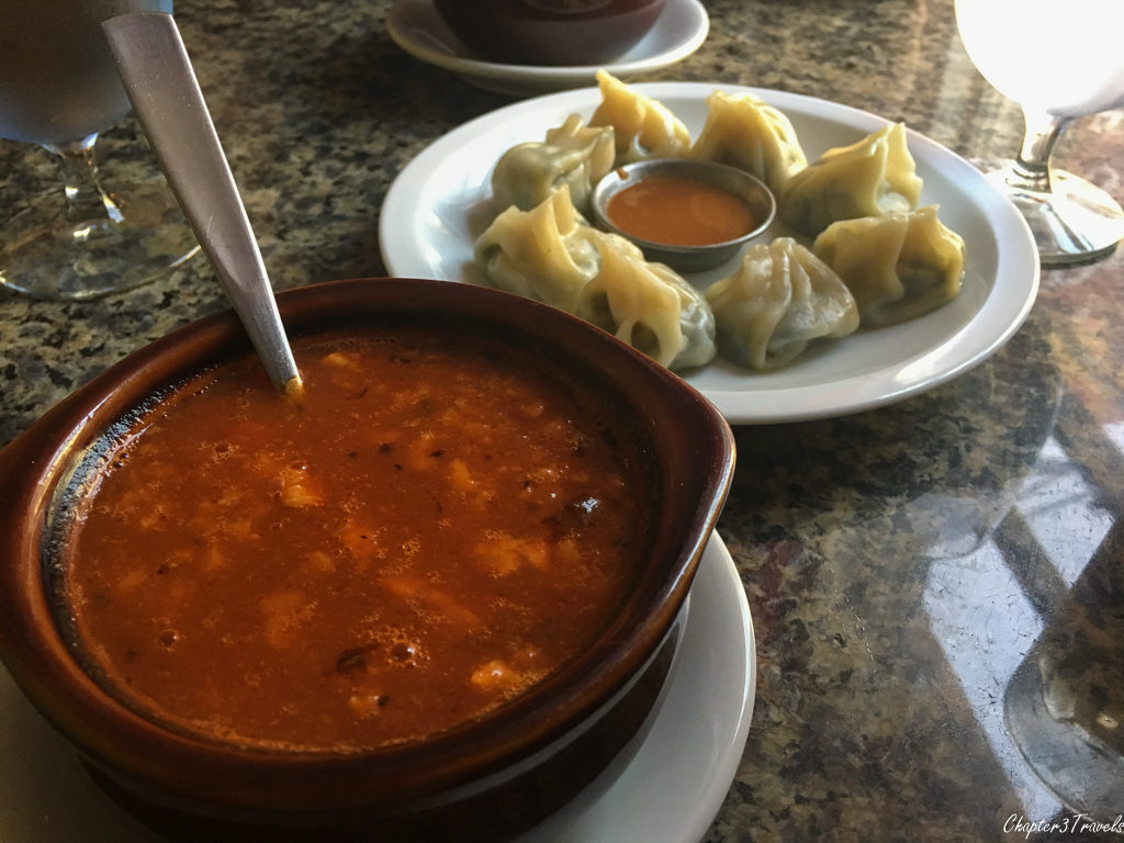 Gundruk Soup and Momos (dumplings) at Durbar Square Restaurant in Portsmouth New Hampshire