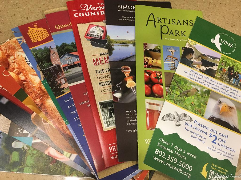 Vermont tourism brochures