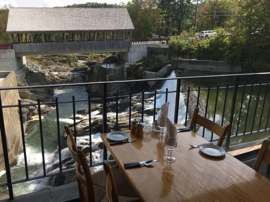 Table at Simon Pearce Restaurant in Quechee, Vermont