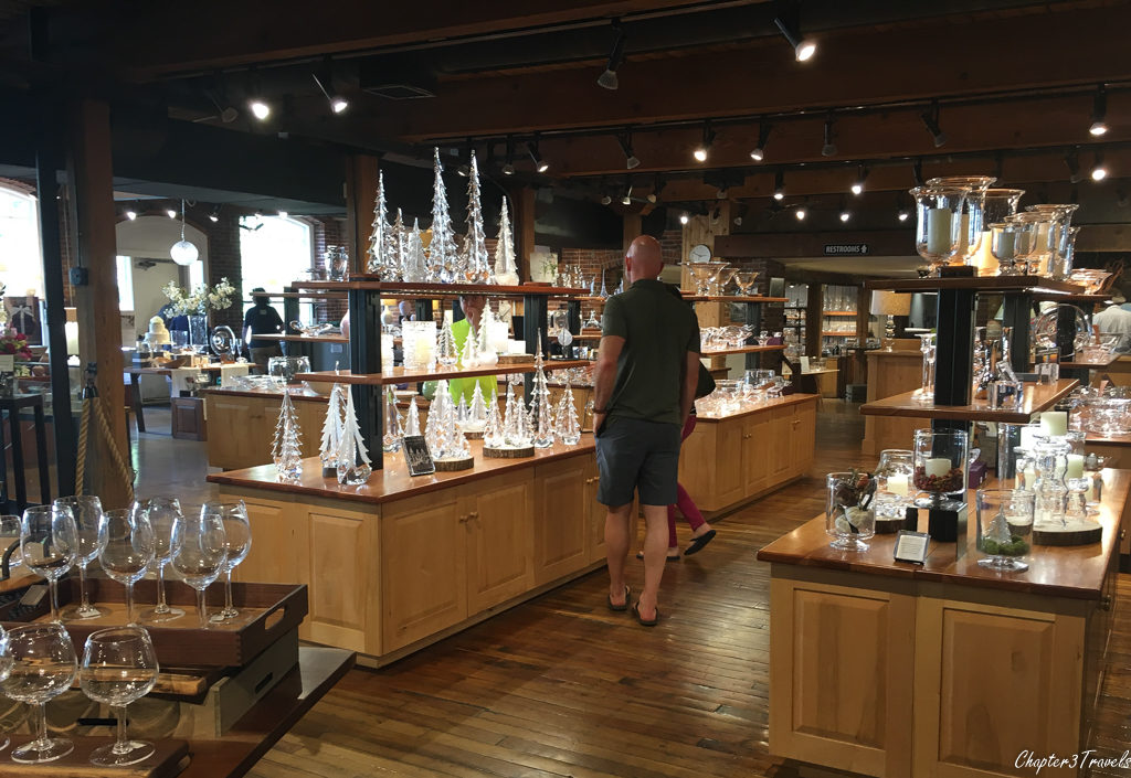 The Simon Pearce shop in Quechee, Vermont