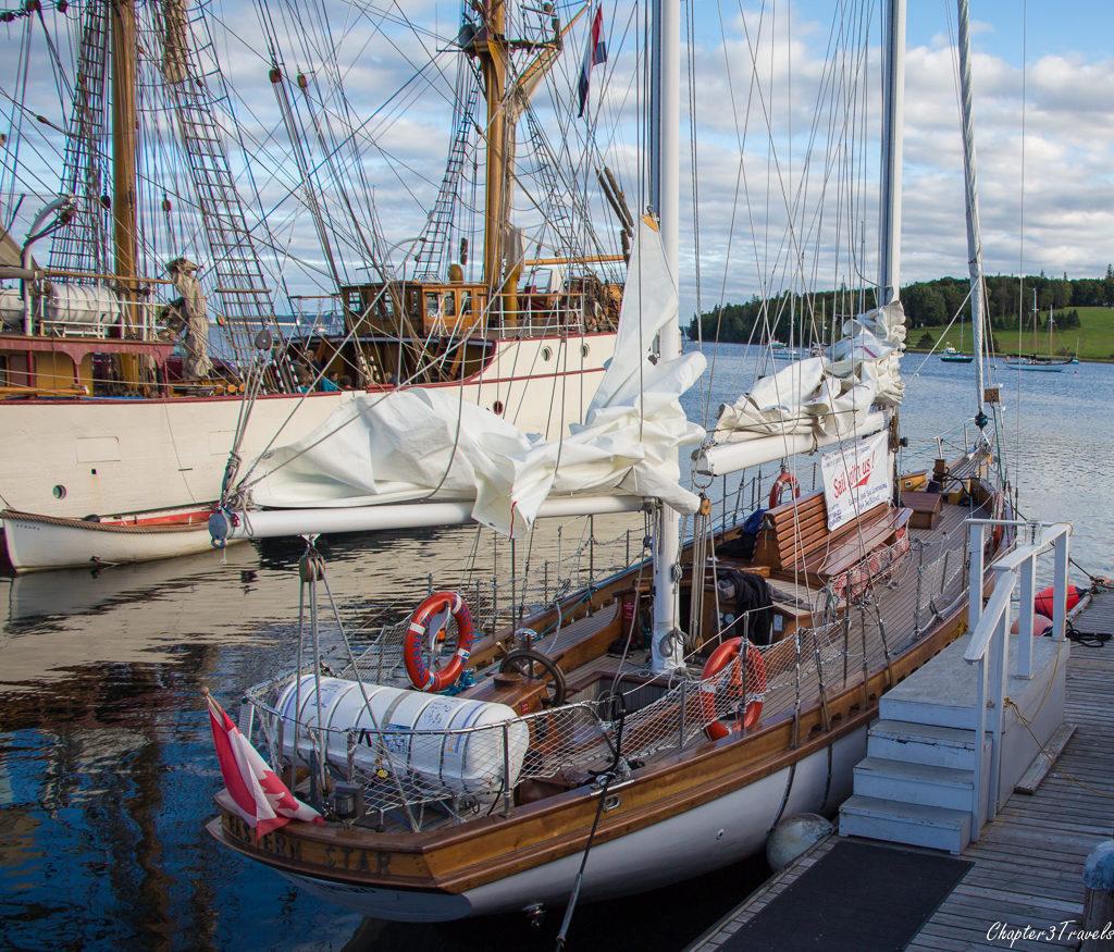 Star Charters sailboat in Lunenburg, Nova Scotia