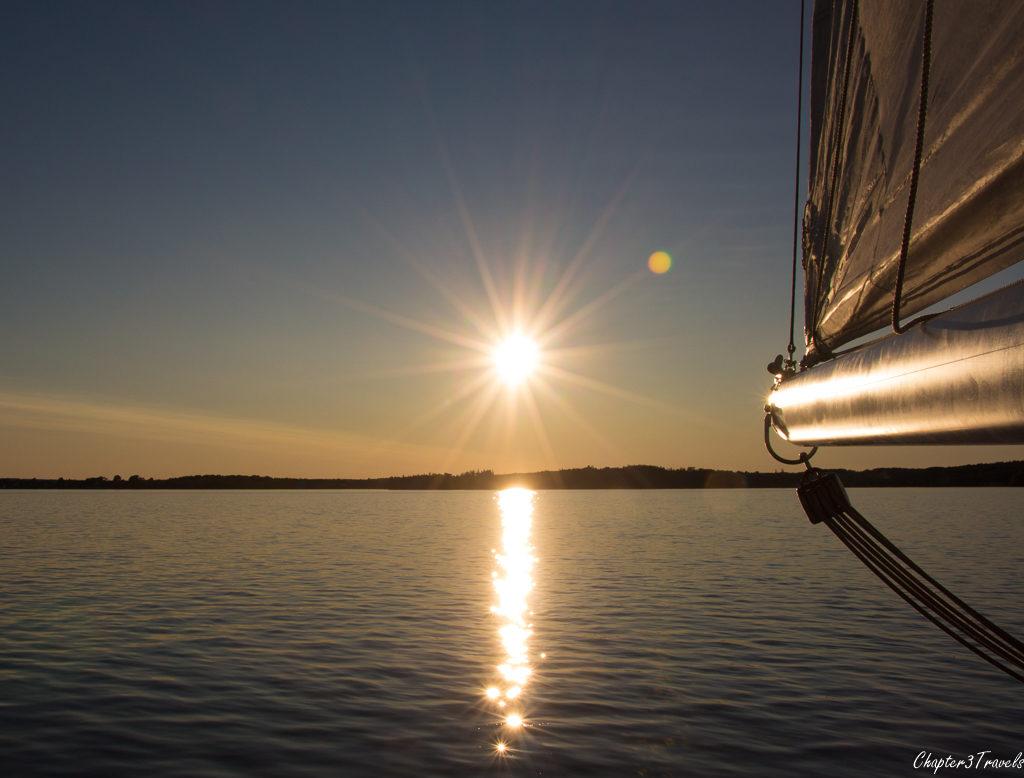 Sunset sail near Lunenburg, Nova Scotia