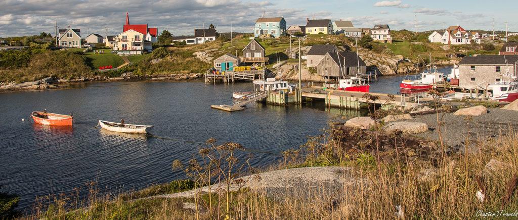 Peggy's Cove village in Nova Scotia