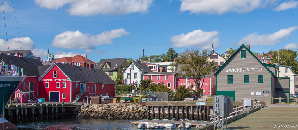 The Lunenburg waterfront from the pier.