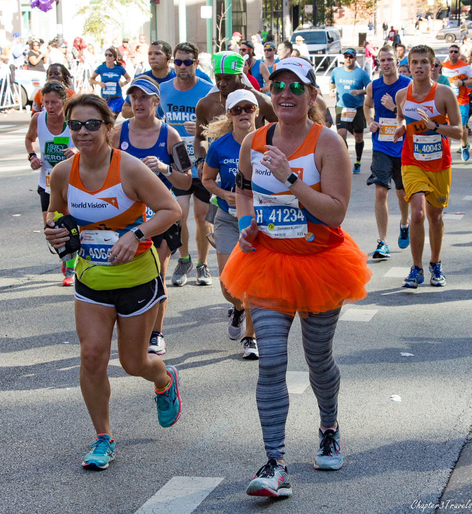 "Runners wearing ""World Vision"" shirts"